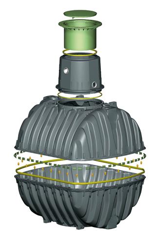 Схема септик. Монтах септик Карат-с. GRAF CARAT-S