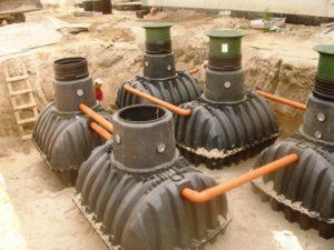 Автономная система очистки стоков и канализации на коттеджный поселок GRAF MOVING BED XXL