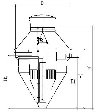Рис 2. Основные габаритные размеры установки NV-1m, NV-2m, NV-3m, NV-4m