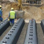 Монтаж дренажной системы GRAF и дренажных тоннелей